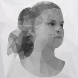 Polygonal girl Stock Photos