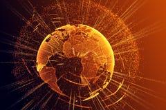 Polygonal globe texture Stock Image