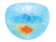 Polygonal Gold Fish Royalty Free Stock Photography