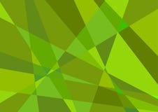 Polygonal grön bakgrundsvektor Royaltyfri Bild