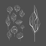 Polygonal graphic set of vector trees Stock Image