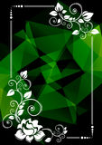 Polygonal green border Stock Image