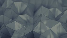 Polygonal grey plastic shape 3D rendering with DOF. Polygonal grey plastic shape. Abstract background. 3D rendering with DOF Stock Image