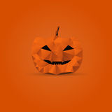 Polygonal halloween pumpkin Royalty Free Stock Photo