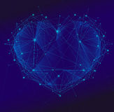 Polygonal heart   Stock Image