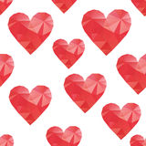 Polygonal hearts Stock Photos