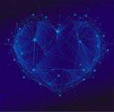 Polygonal hjärta Fotografering för Bildbyråer