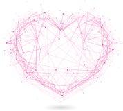 Polygonal hjärta Arkivbilder