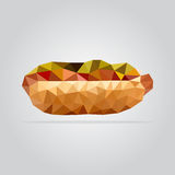 Polygonal hot dog illustration Royalty Free Stock Photo