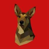 Polygonal hund Royaltyfri Fotografi