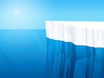 Polygonal iceberg, 3d Stock Photo