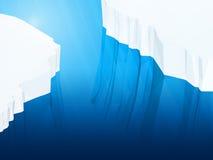 Polygonal iceberg, 3d Royalty Free Stock Photos
