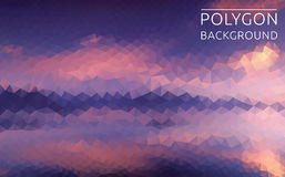 Polygonal illustration of beautiful landscape Royalty Free Stock Photography