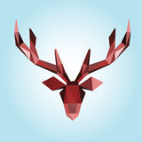 Polygonal illustration of deer head Stock Photo