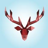 Polygonal illustration of deer head Stock Photo