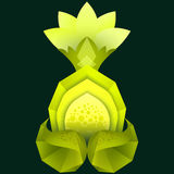 Polygonal illustration of lemon with flower. Royalty Free Stock Images