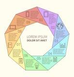 Polygonal infographic διάγραμμα Στοκ Εικόνες