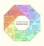 Polygonal infographic διάγραμμα Στοκ Φωτογραφίες