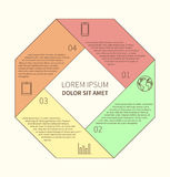 Polygonal infographic diagram Stock Photo