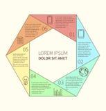 Polygonal infographic diagram Stock Photos