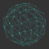 Polygonal jordklot för vektor 3d Royaltyfria Bilder