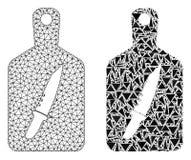 Polygonal kadaver Mesh Cutting Board och mosaisk symbol royaltyfri illustrationer