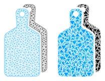 Polygonal kadaver Mesh Cutting Boards och mosaisk symbol stock illustrationer