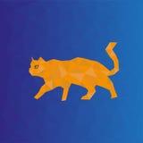 Polygonal katt Fotografering för Bildbyråer