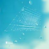 Polygonal kub Arkivbild