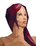 Polygonal kvinna Fotografering för Bildbyråer