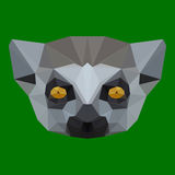 Polygonal lemur background Royalty Free Stock Photography
