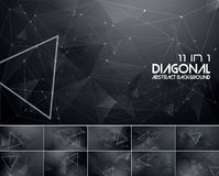 Polygonal line and low poly abstract background. Suitable for web background and design element Royalty Free Stock Image