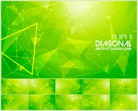 Polygonal line and low poly abstract background. Suitable for web background and design element Royalty Free Stock Photo