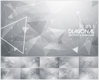 Polygonal line and low poly abstract background. Suitable for web background and design element Stock Images