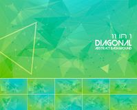 Polygonal line and low poly abstract background Stock Image