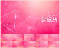 Polygonal line and low poly abstract background. Suitable for web background and design element Royalty Free Stock Photography
