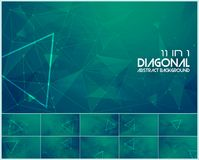 Polygonal line and low poly abstract background. Suitable for web background and design element Stock Image