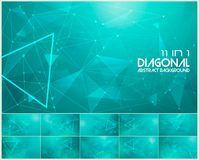 Polygonal line and low poly abstract background. Suitable for web background and design element Stock Photo