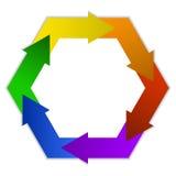 Polygonal logo Stock Photo