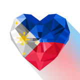Polygonal logo symbol of love Philippines. Royalty Free Stock Image