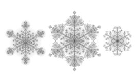Polygonal low poly festive snowflake. Isolated 3D detailed render geometric triangle greeting card. Ice snow crystal. Light sparkle Christmas New Year template royalty free illustration