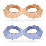 Polygonal masks Royalty Free Stock Photos
