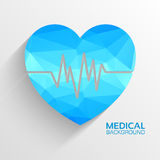Polygonal  medical heart vector background concept Royalty Free Stock Photos