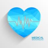 Polygonal  medical heart vector background concept Royalty Free Stock Photos