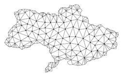 Polygonal 2D Mesh Vector Map of Ukraine royalty free illustration