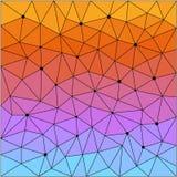 Polygonal modell för abstrakt geometrisk triangel Arkivfoto