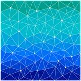 Polygonal polygonal modell för abstrakt geometrisk triangel Fotografering för Bildbyråer