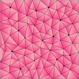 Polygonal modellbackgrou för abstrakt geometrisk triangel Arkivbild