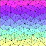 Polygonal modellbackgrou för abstrakt geometrisk triangel Royaltyfri Fotografi