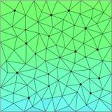 Polygonal polygonal modellräkning för abstrakt geometrisk triangel Fotografering för Bildbyråer